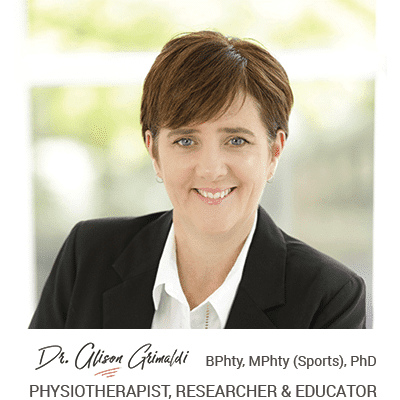 Dr Alison Grimaldi recommends you join Hip Pain Professionals
