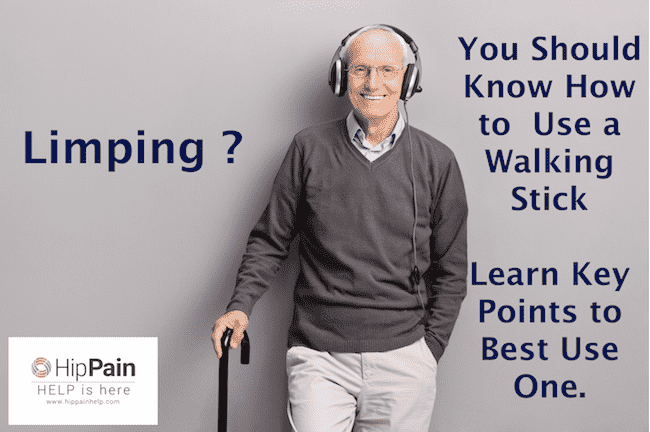Limping how to use a walking stick
