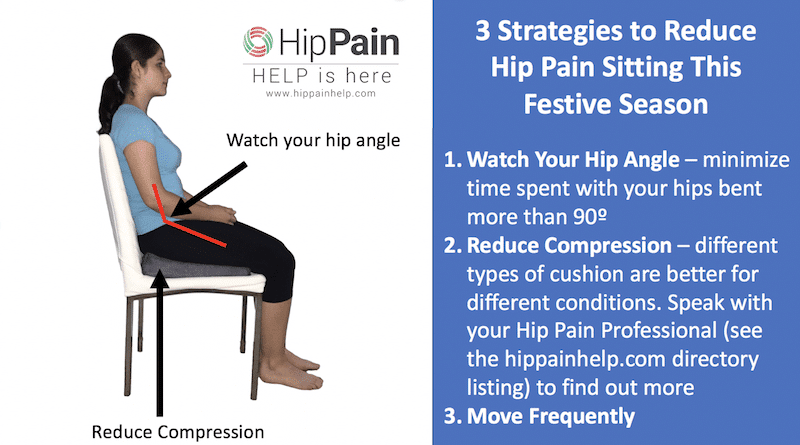 3 strategies to reduce hip pain sitting this festive season