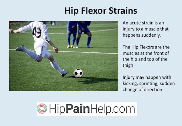 hip flexor strain can occur when kicking a football