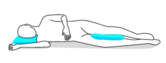 good sleeping position when you side sleep