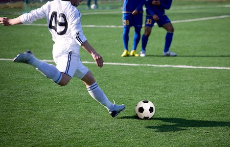 pubic symphysis pain, groin pain, pubic related groin pain can occur with kicking