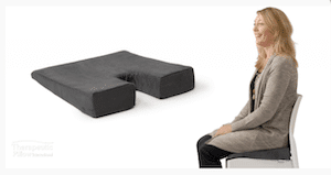 coccyx cushion to reduce tailbone pain sitting or Coccydynia pain on chair sitting